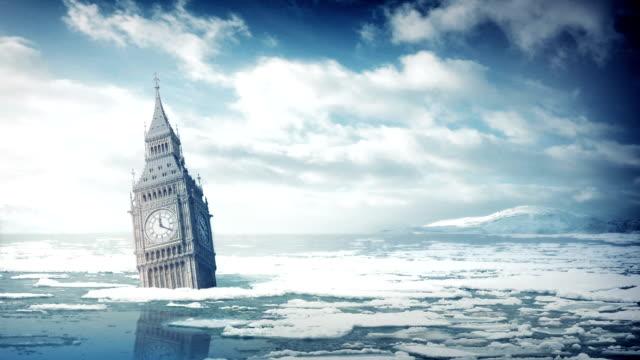 Big Ben Submerged In Ocean video