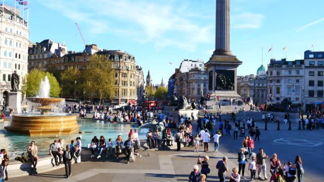 4 k 大本與特拉法加廣場在倫敦,英國 - 廣場 個影片檔及 b 捲影像