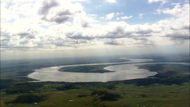 Big Bend On Missouri River  - Aerial View - South Dakota, Hughes County, United States