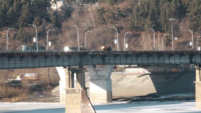 運輸移動的大橋 - 亞洲中部 個影片檔及 b 捲影像