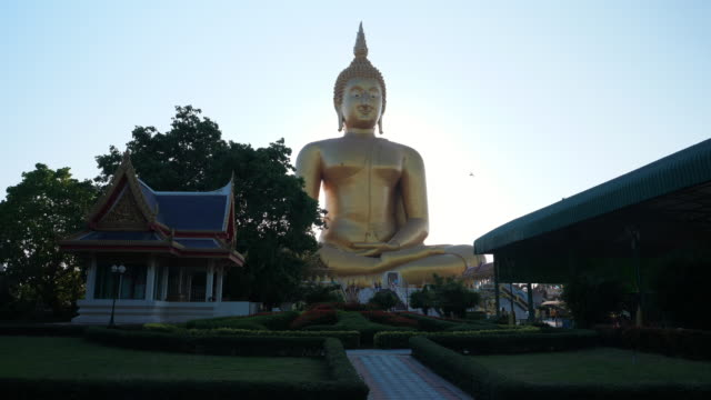 Big Buddha at Wat Muang Temple. It is the biggest Buddha Statue in Thailand