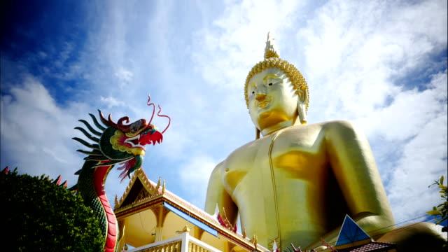 大きな仏陀像時間周 - サムイ島点の映像素材/bロール
