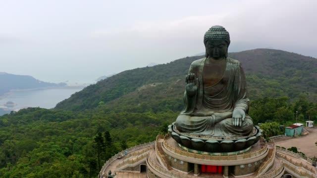 Big Buddha Po Lin Monestary buddha stock videos & royalty-free footage