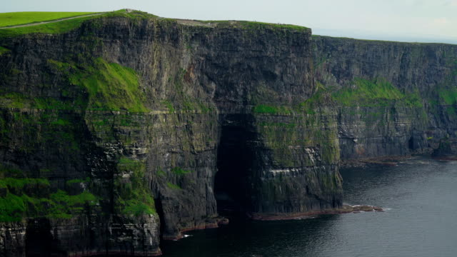 Big cliffs from the view of the Cliffs of Moher in Ireland video