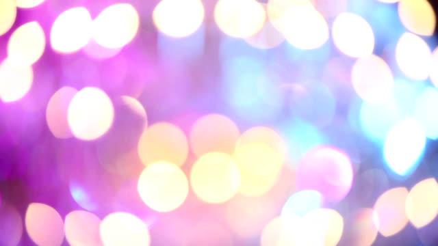 Big crystal chandelier and color light video