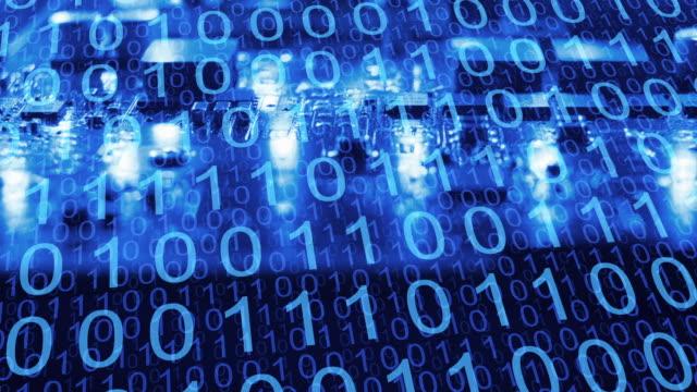 big data analytics binära siffror, vetenskap och teknologi - hotelse bildbanksvideor och videomaterial från bakom kulisserna