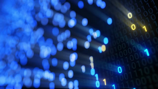 big data cloud computing internet of things iot ai network technology. seamless loop 4k vj background. - apprendimento automatico video stock e b–roll