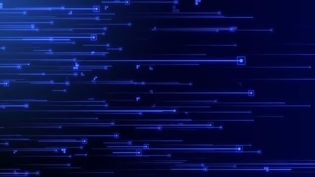 stor data flöde data analys cloud computing med binär kod som körs - nod bildbanksvideor och videomaterial från bakom kulisserna