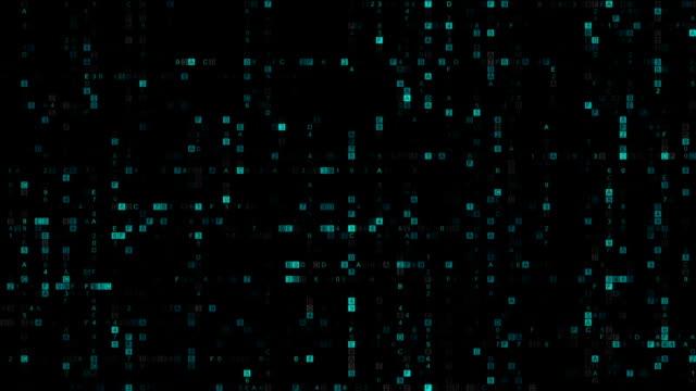 Big data of blue hexadecimal digit code seamless loop animation Big data of blue hexadecimal digit code. Futuristic information technology concept. Seamless loop animation encryption stock videos & royalty-free footage