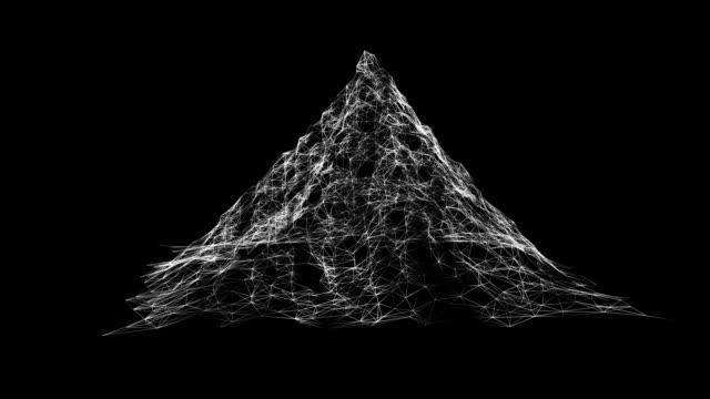 visualisering av stordata. maskininlärningsalgoritmer. analys av information. visuell data infographics design. 3d landskap cyberrymden grid vetenskap och teknik - nod bildbanksvideor och videomaterial från bakom kulisserna