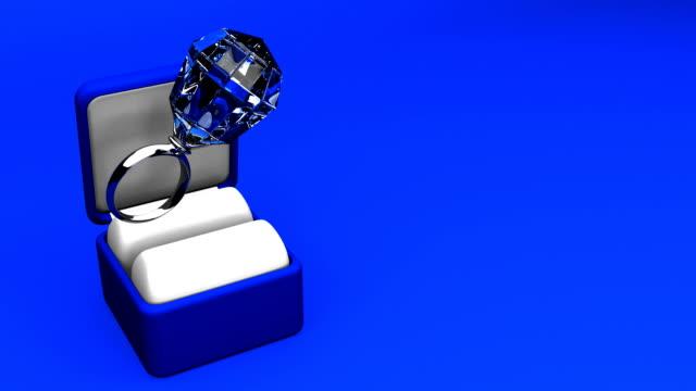 Big Diamond Ring On Blue Text Space video