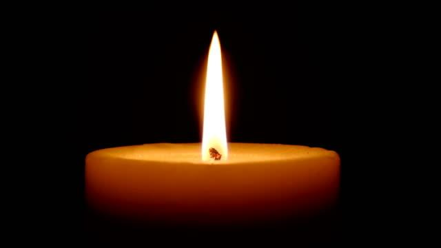 Big fat candle burns