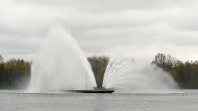 Big fountain in Minsk - slowmotion 60 fps