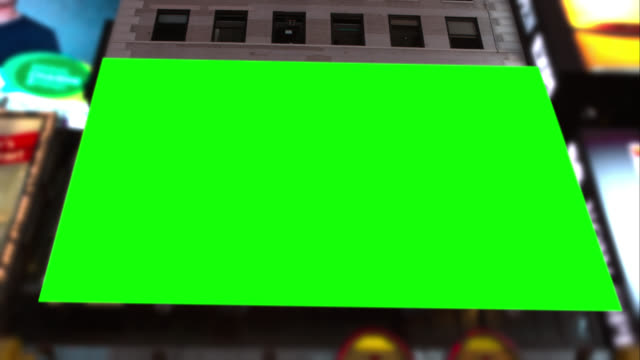 Big Green screen Chroma key in Time square NYC video