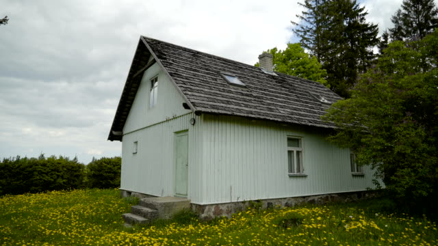 A big house with a wooden shakes roof - vídeo