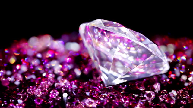 Big jewel stone with many violet small one video
