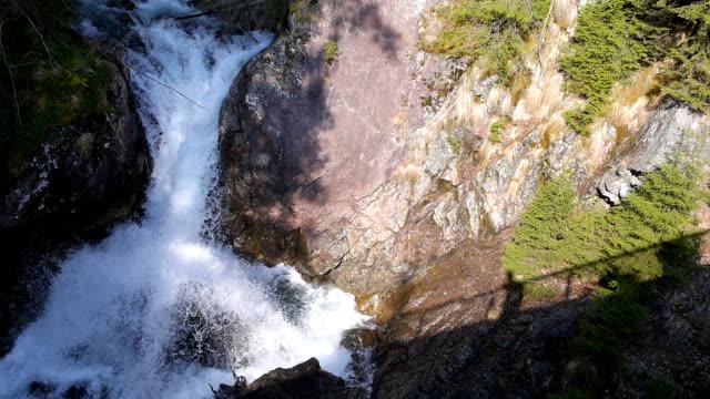Big mountain waterfall. video