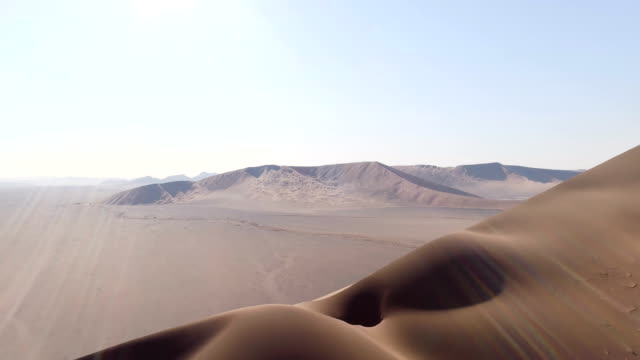 Big Namibia dune. Aerial view video