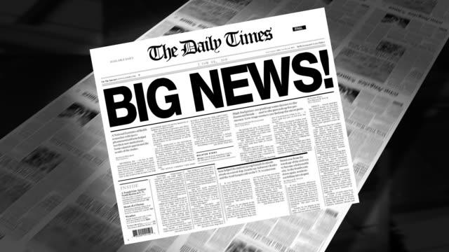 großartige neuigkeiten! schlagzeile (intro-loops - ankündigung stock-videos und b-roll-filmmaterial