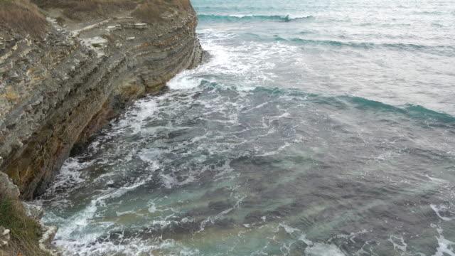 Big ocean waves and coast. video