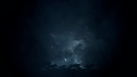 vídeos y material grabado en eventos de stock de gran manada de lobos corriendo a través de una tormenta de nieve épicas - un animal