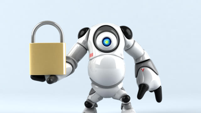 Big robot - 3D Animation Big robot - 3D Animation antivirus software stock videos & royalty-free footage