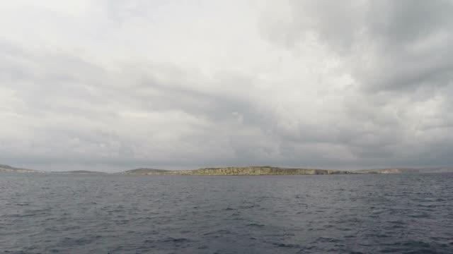 Big Rocks and Mediterranean Sea, Gozo, Republic of Malta video