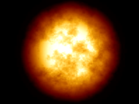 Big round fiery explosion with sound - digital animation It was made using fractal clouds in Photoshop, than animated in AE. I've also included some sound for blazing effect.  mare stock videos & royalty-free footage