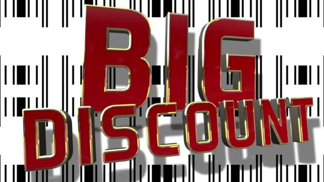 Big Sale 3D Text Looping Animation video