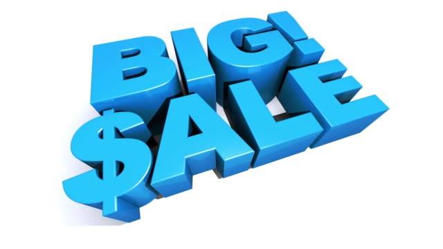 Big! Sale Blue 3D Graphic Text video