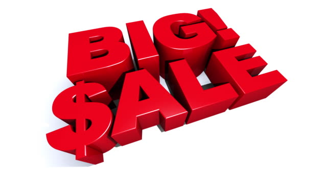 Big! Sale Red 3D Graphic Text video