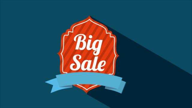 vídeos de stock, filmes e b-roll de grande venda, vídeo 3d - tag