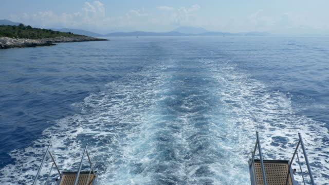 big ship sea slipstream - ster fragment pojazdu filmów i materiałów b-roll