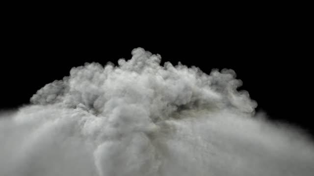 Big smoke formation rising.