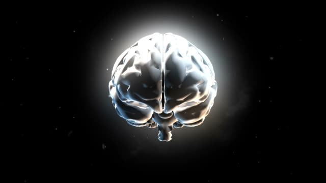 Big strong brain pulsing in white Big strong brain pulsing in white electrode stock videos & royalty-free footage