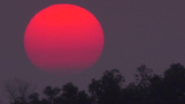 Big Sunset On Dusty Sky