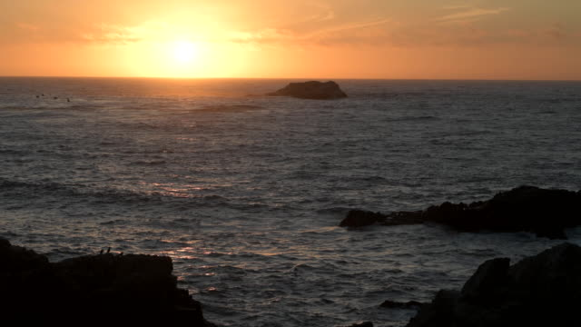 Big Sur Pacific Sunset 4k video