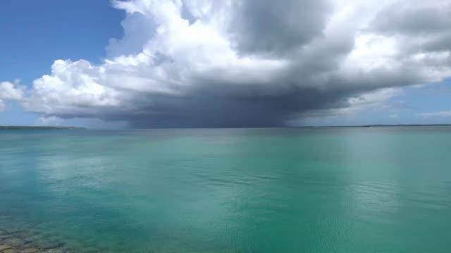 (30 times speed) Big thunderclouds over the sea near Miyako island, Okinawa video