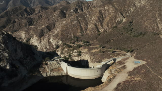 Big Tujunga Dam- Aerial Drone Shot