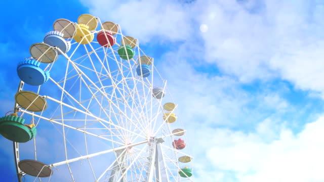 Big wheel against clouds video