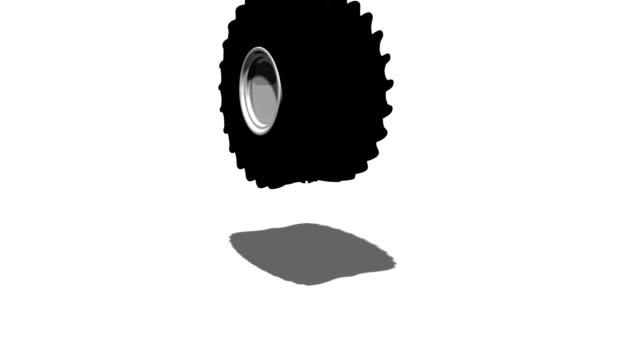 Big wheels falling video
