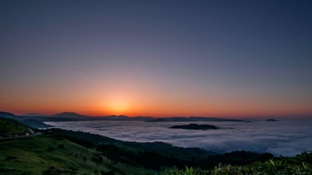 朝早く美幌峠 - 朝日点の映像素材/bロール