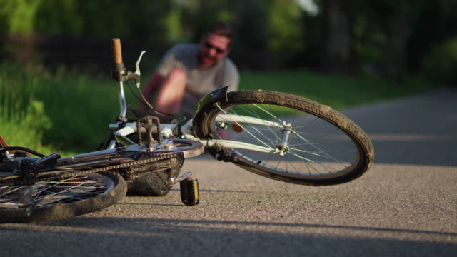 A bike accident.