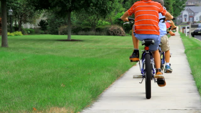 Bike along grassy yard video