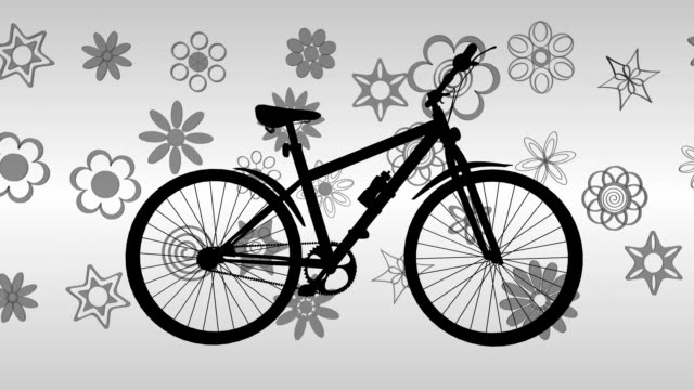 Bike and Flowers 3D animation