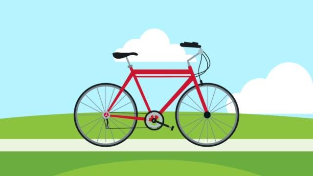 Bидео Bike on park HD animation