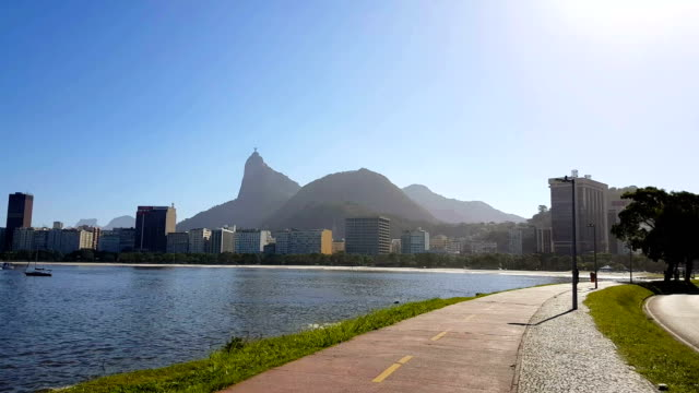 Bike path in Rio de Janeiro video