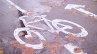 istock Bike road in rainy weather 1285321051