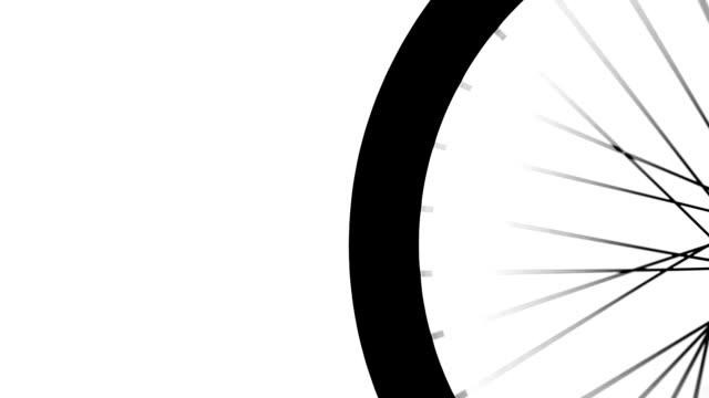 bike wheel silhouette - wheel black background bildbanksvideor och videomaterial från bakom kulisserna