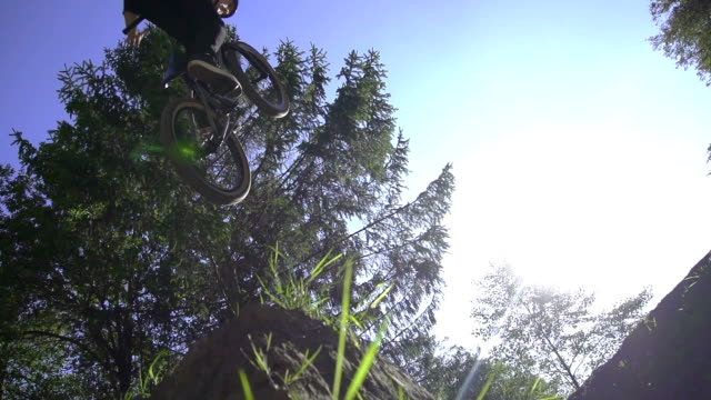 SLOW MOTION: Bikers jumping video
